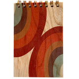Wood Notepad 70's Rainbow
