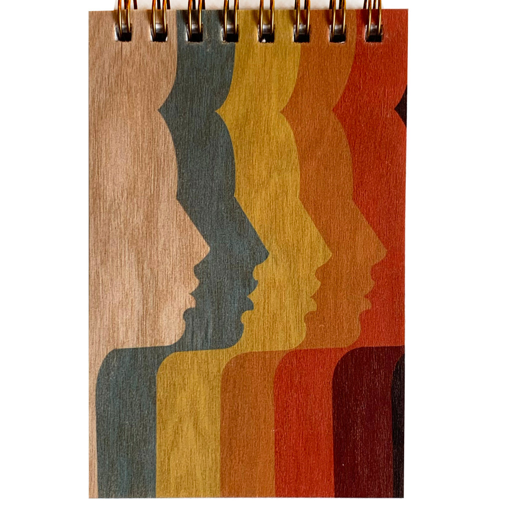 Wood Notepad 70's Ladies Small
