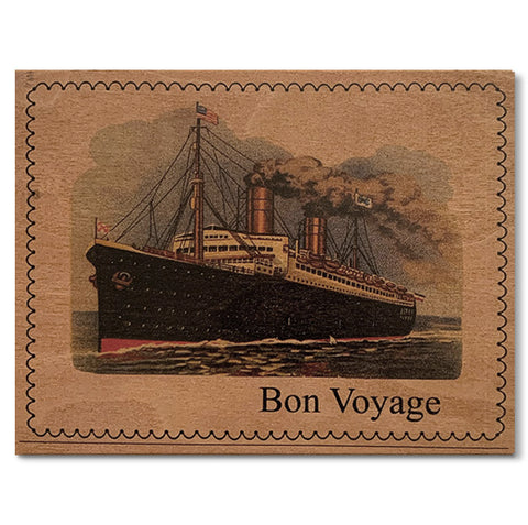 Wood Card Bon Voyage