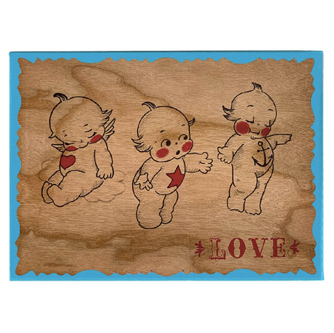 Wood Card Cupie Love