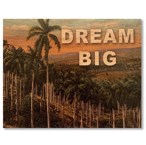 Wood Card Dream Big