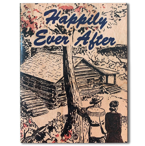 Romantic Ever After Wood Folding Card