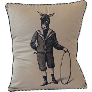 Spitfire Girl Donkey Boy Pillow