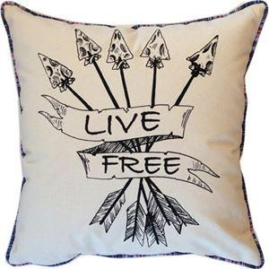 Spitfire Girl Live Free Pillow