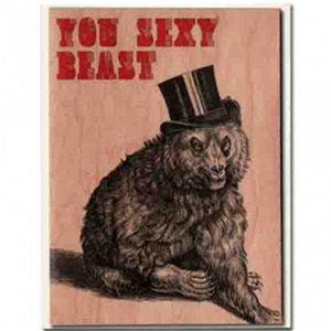 You Sexy Beast Wood Card
