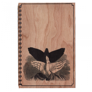Shadow Bird Wood Notebook