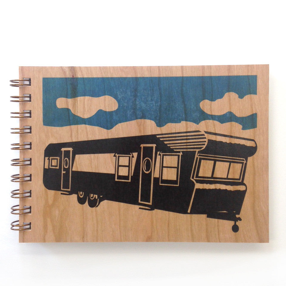 Wood Trailer Spiral Bound Journal Spitfire Girl