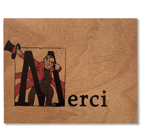 Wood Card Merci