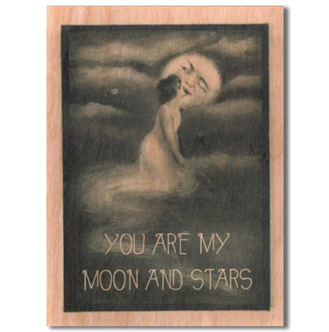 Romantic Moon Wood Card
