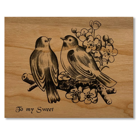 Romantic Wood Folding Card~ My Sweet