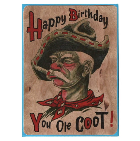 Birthday Wood Card Ole Coot
