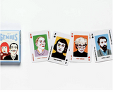 Set of playing cards featuring  each of four major art movements: