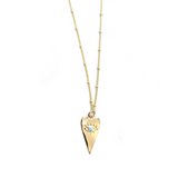 Gold Planchette & Eye Necklace