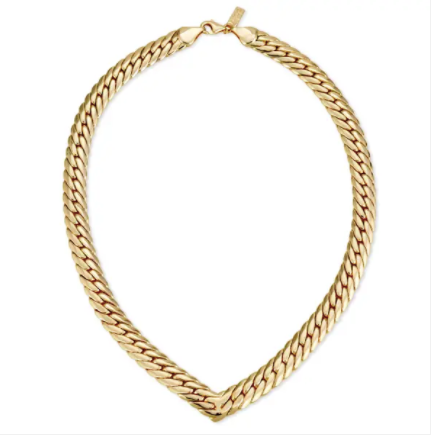 Chevron Statement Choker- Gold