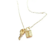 Lock and Key 18k Gold Necklace