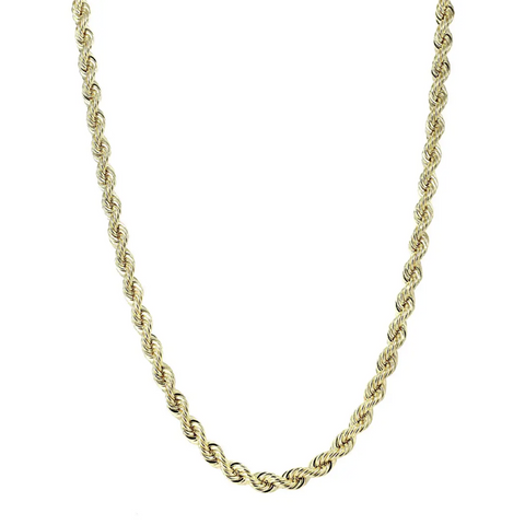 14k Classic Rope Chain Necklace