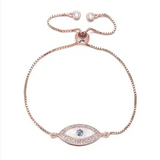 Mosaic Eye Bracelet- Rose Gold