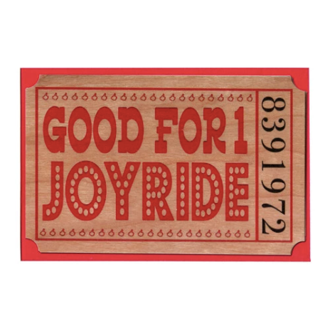 Romance~ Wood Ticket Joyride