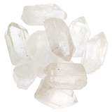 Clear Quartz crystals on white backgroud