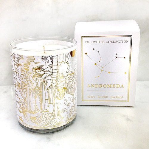 White and Gold candle Andromeda