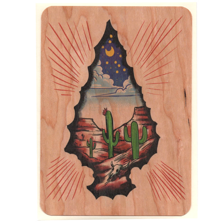 Everyday Wood Flat Card ~ Arrowhead