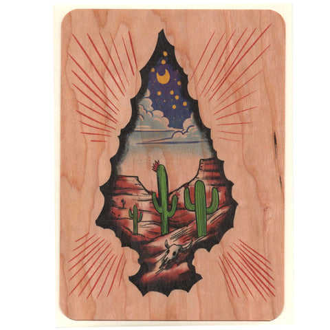 Wood Card Arrowhead