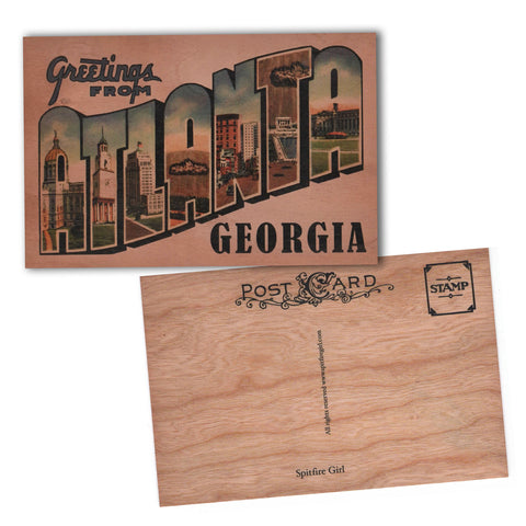 Wood Postcard Atlanta