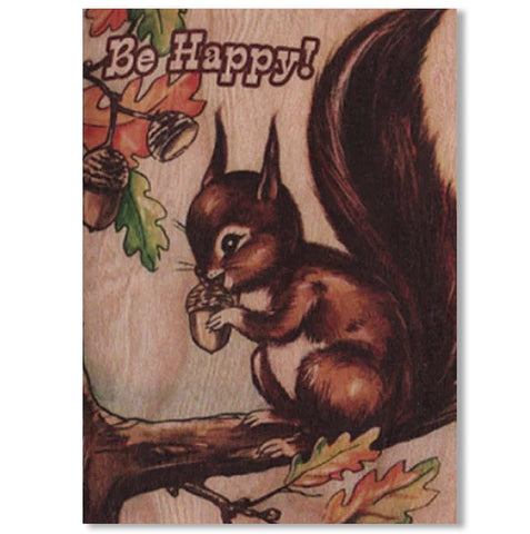 Everyday Wood Folding Card~Be Happy