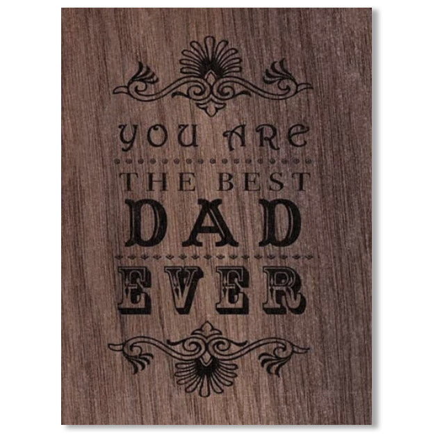 Everyday Best Dad Wood Folding Card