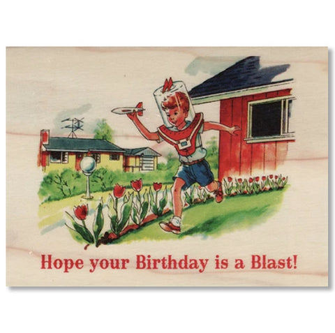 Birthday Wood Folding Card Blast