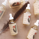 Desert cactus flower face and body oil packaged in glass bottle with dropper lid
