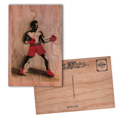 Wood Postcard Boxer