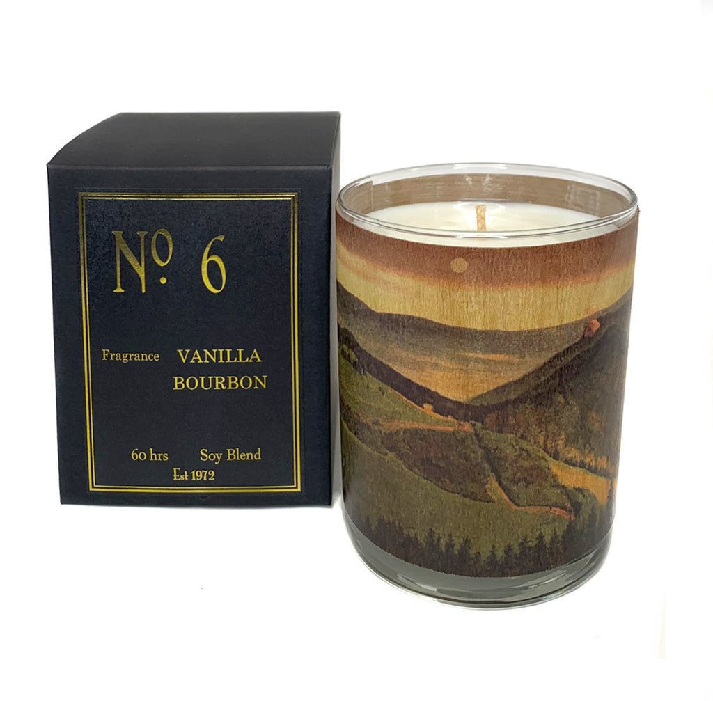 Wood Candle No. 6 Vanilla Bourbon Amber