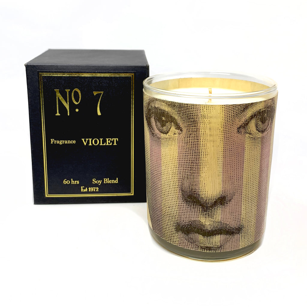 Wood Candle No. 7 Violet
