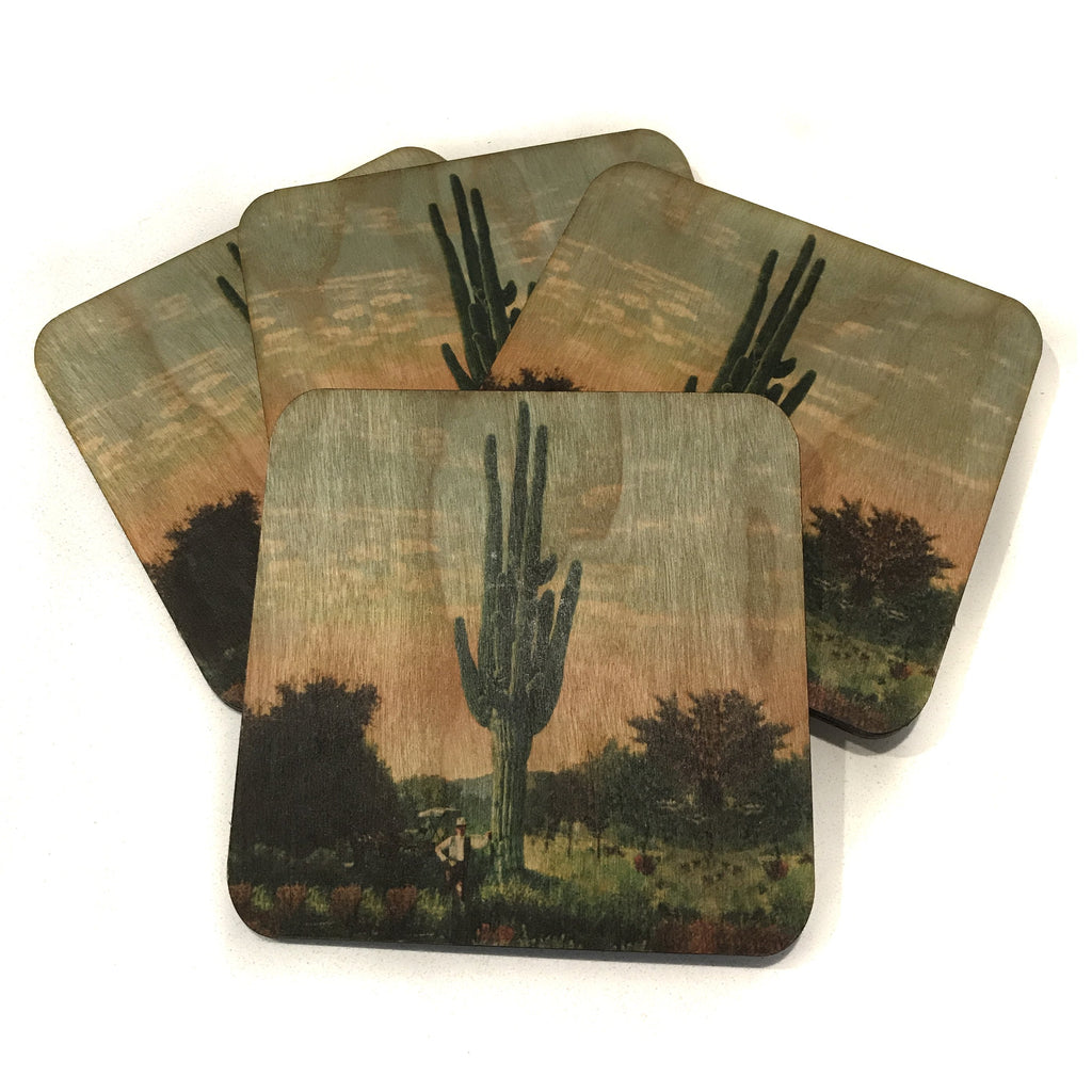 Wood Coasters Cactus