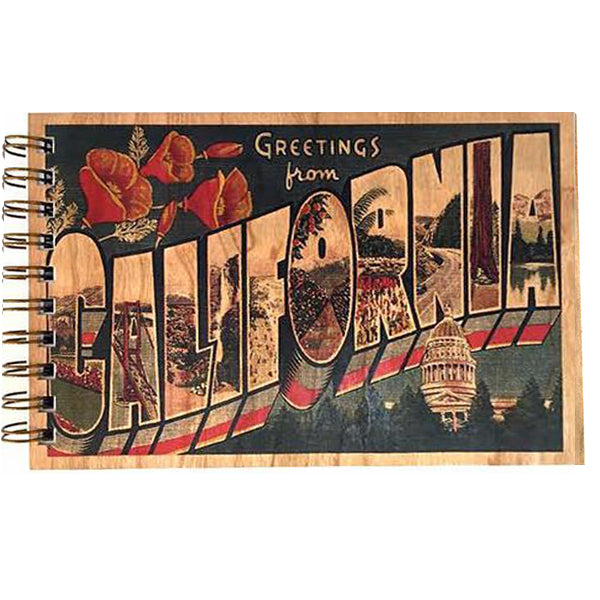 Wood bound journal spitfire girl wood bound journal greetings from california m4hsunfo