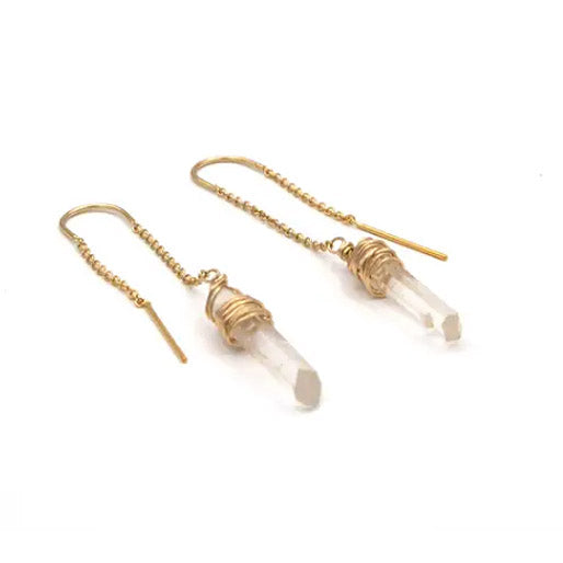 Quartz Threader Earrings