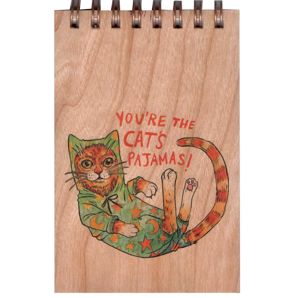 Wood Notepad Cats Pajamas Small