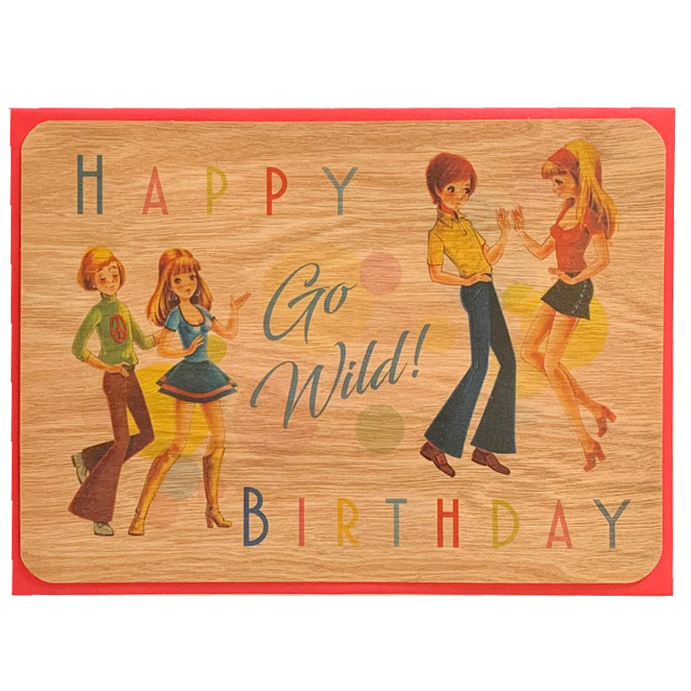 Happy Birthday card Vintage art