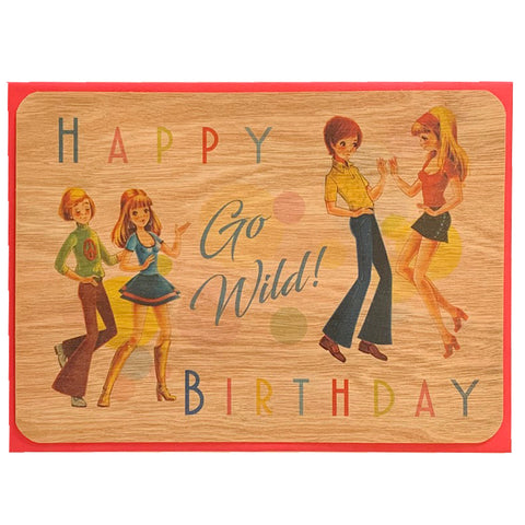 Birthday Wood Card Go Wild