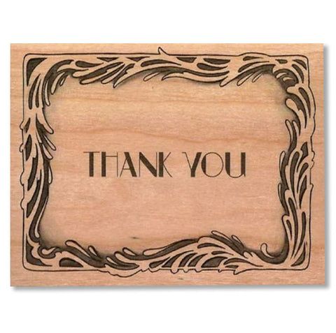 Wood Card Deco Thank you