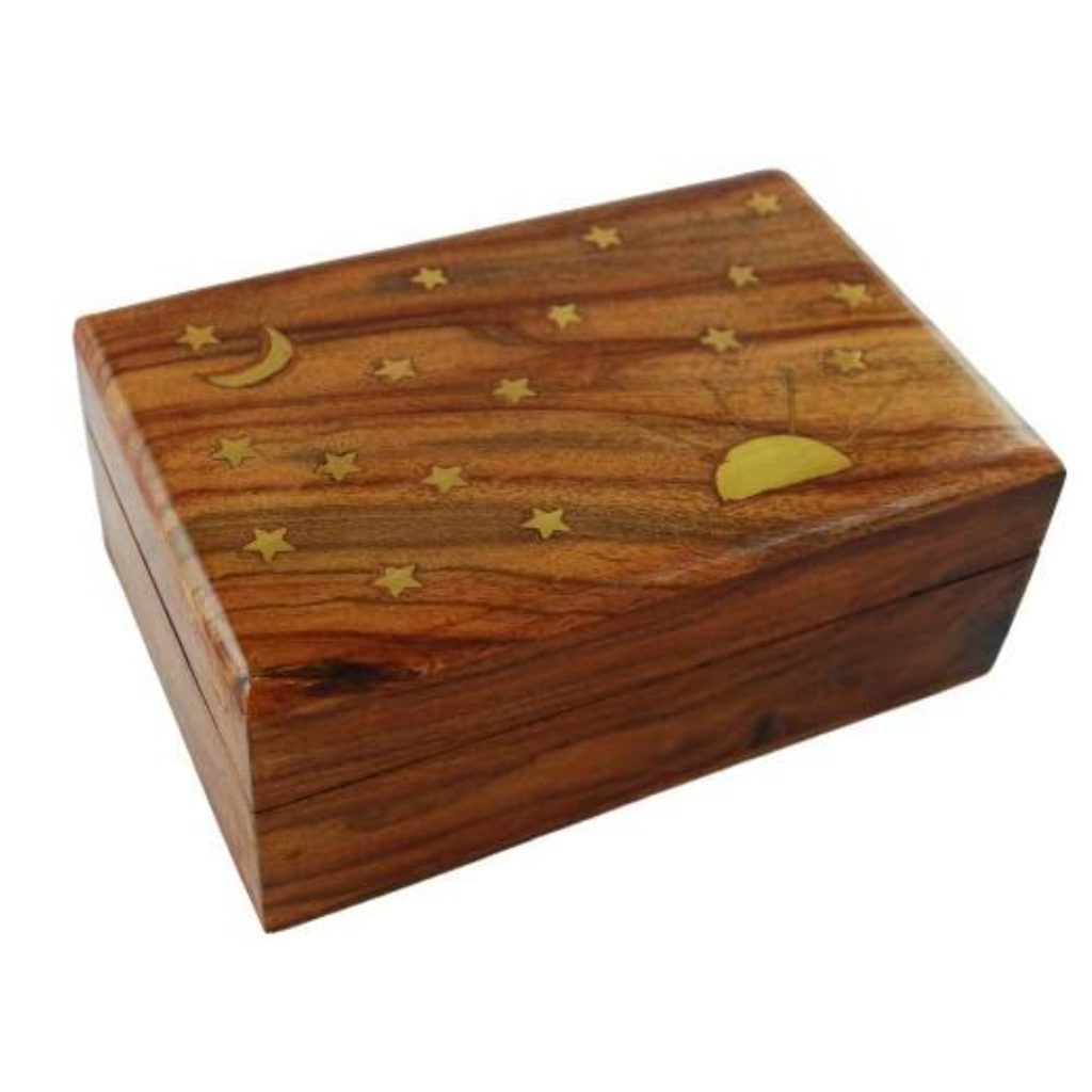 Sun And Stars Wood Box