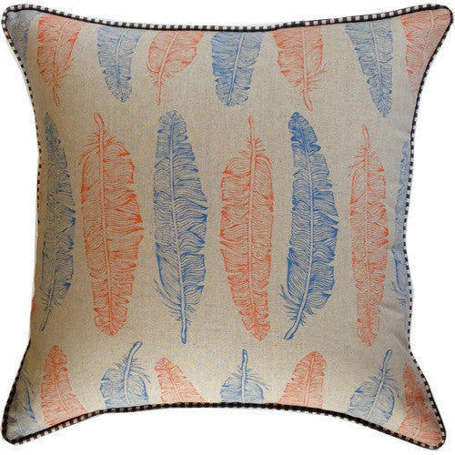 Spitfire Girl Feathers Pillow