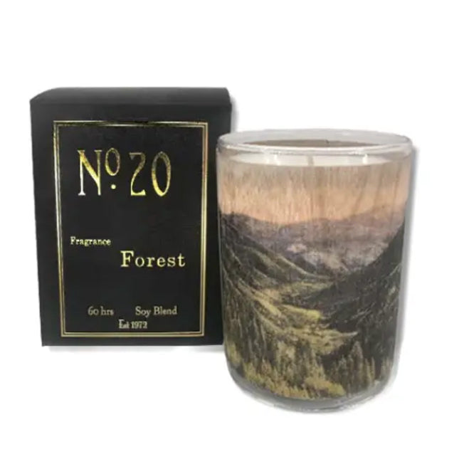 Wood Wrapped Candle No.20 Forest