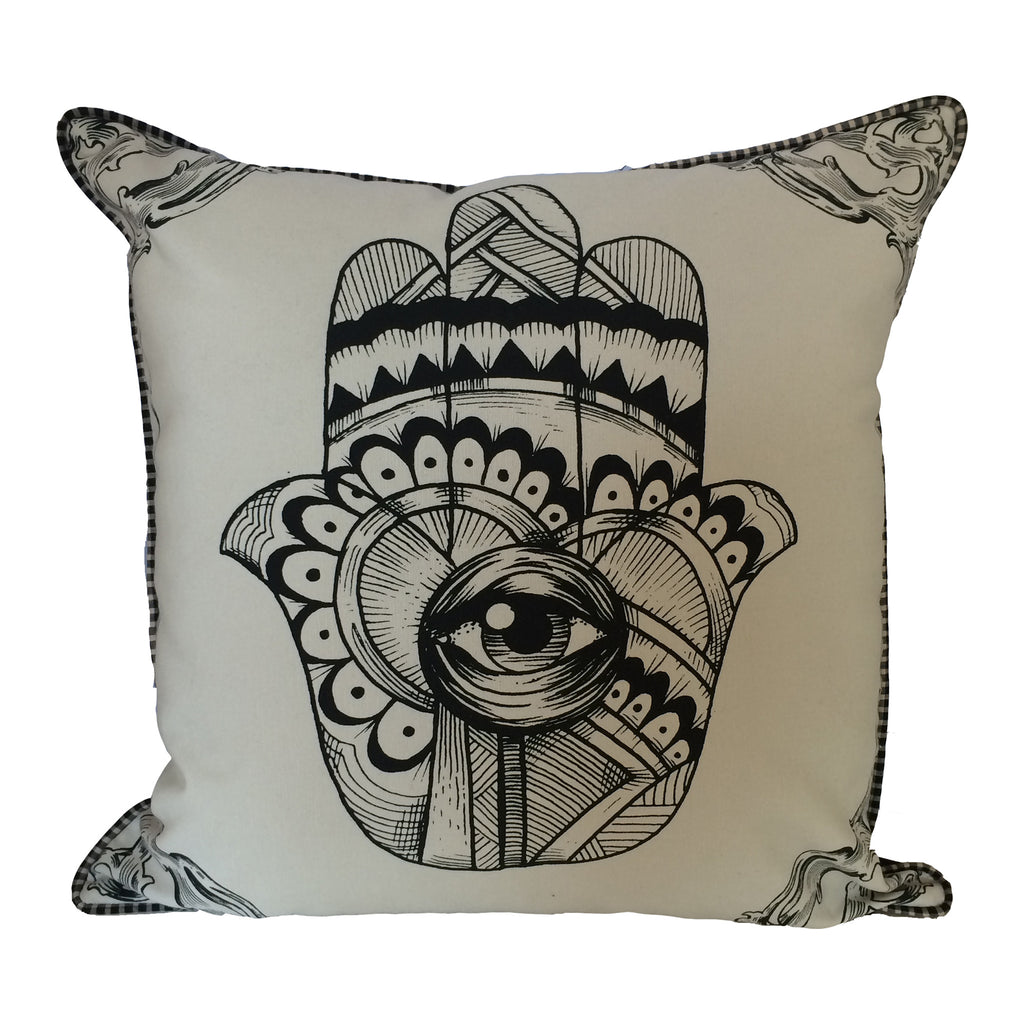 Spitfire Girl Hamsa Pillow