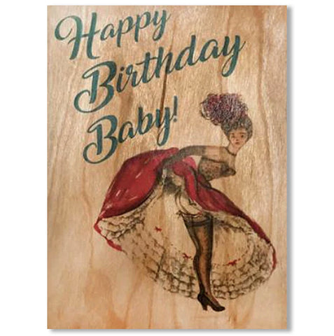 Happy Birthday Baby, Wood Card