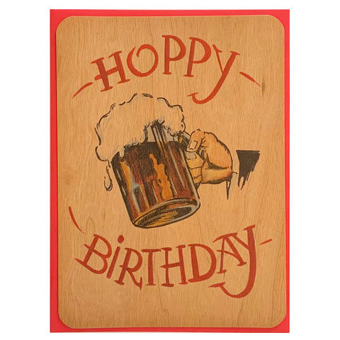 Birthday Wood Card Hoppy Birthday