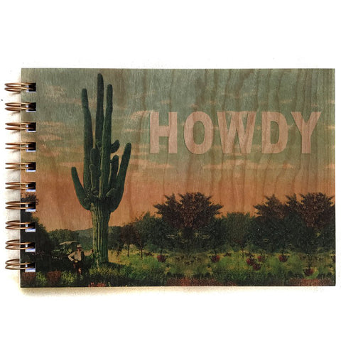 Wood Bound Journal Howdy Large