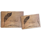 Wood Spiral Bound Guest Book