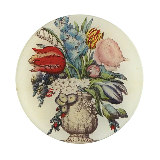 John Derian Plate Arranged Flowers